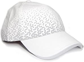 MUN Gear White Reflective Running Hat Triangle Women Men Adult Athletic
