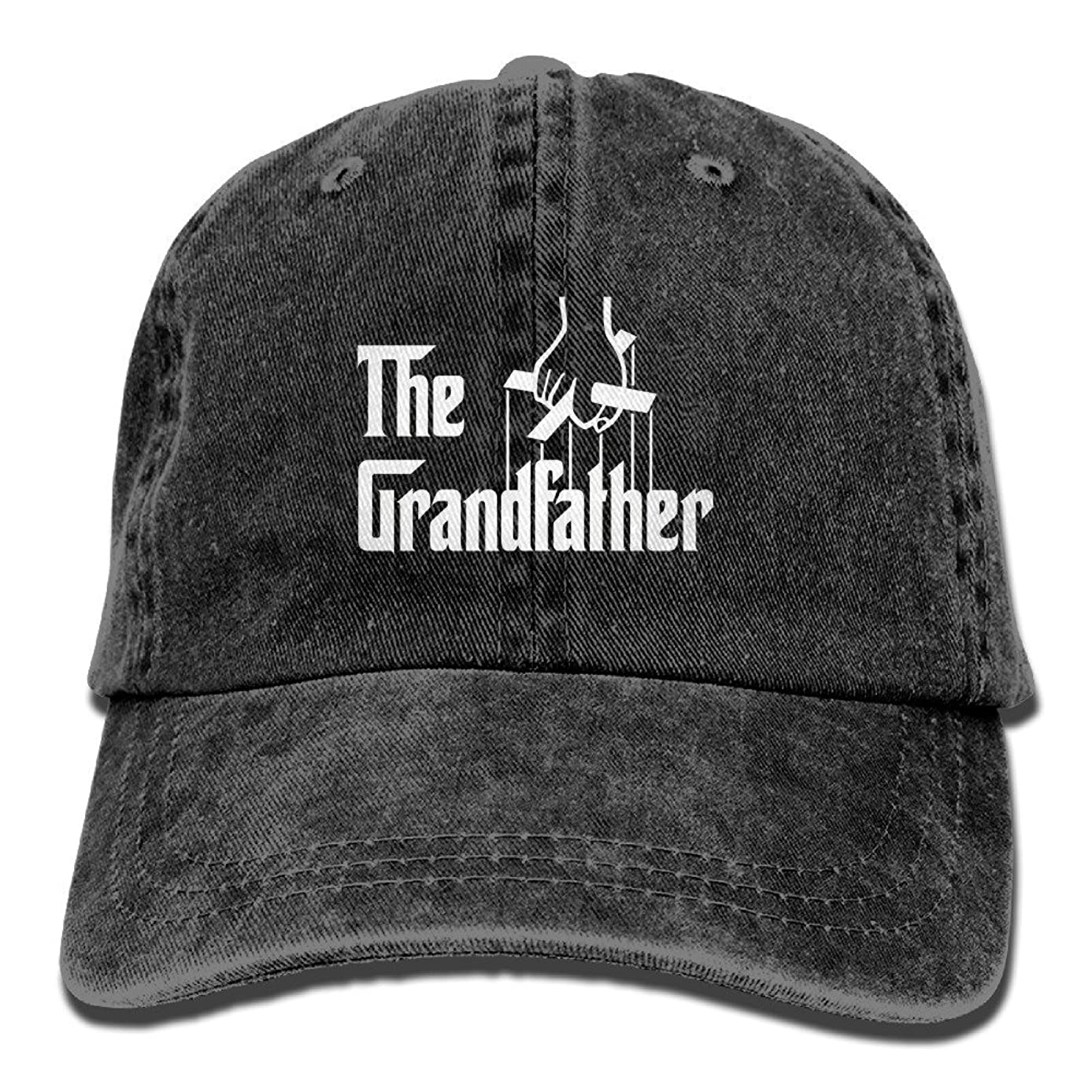 The Grandfather,Father's Gift Cotton Adjustable Jeans Caps Baseball Caps for Man and Woman