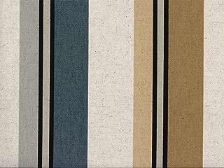 Swatch Sample Discount Fabric Richloom Upholstery Drapery Linen Morelli Greystone Stripe RR12
