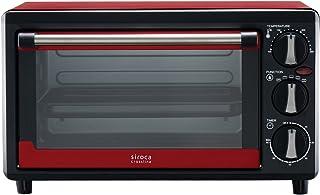 siroca ノンフライオーブン SCO-213レッド[油無しで揚げ物調理/コンベクション/惣菜温め/ピザプレート付]