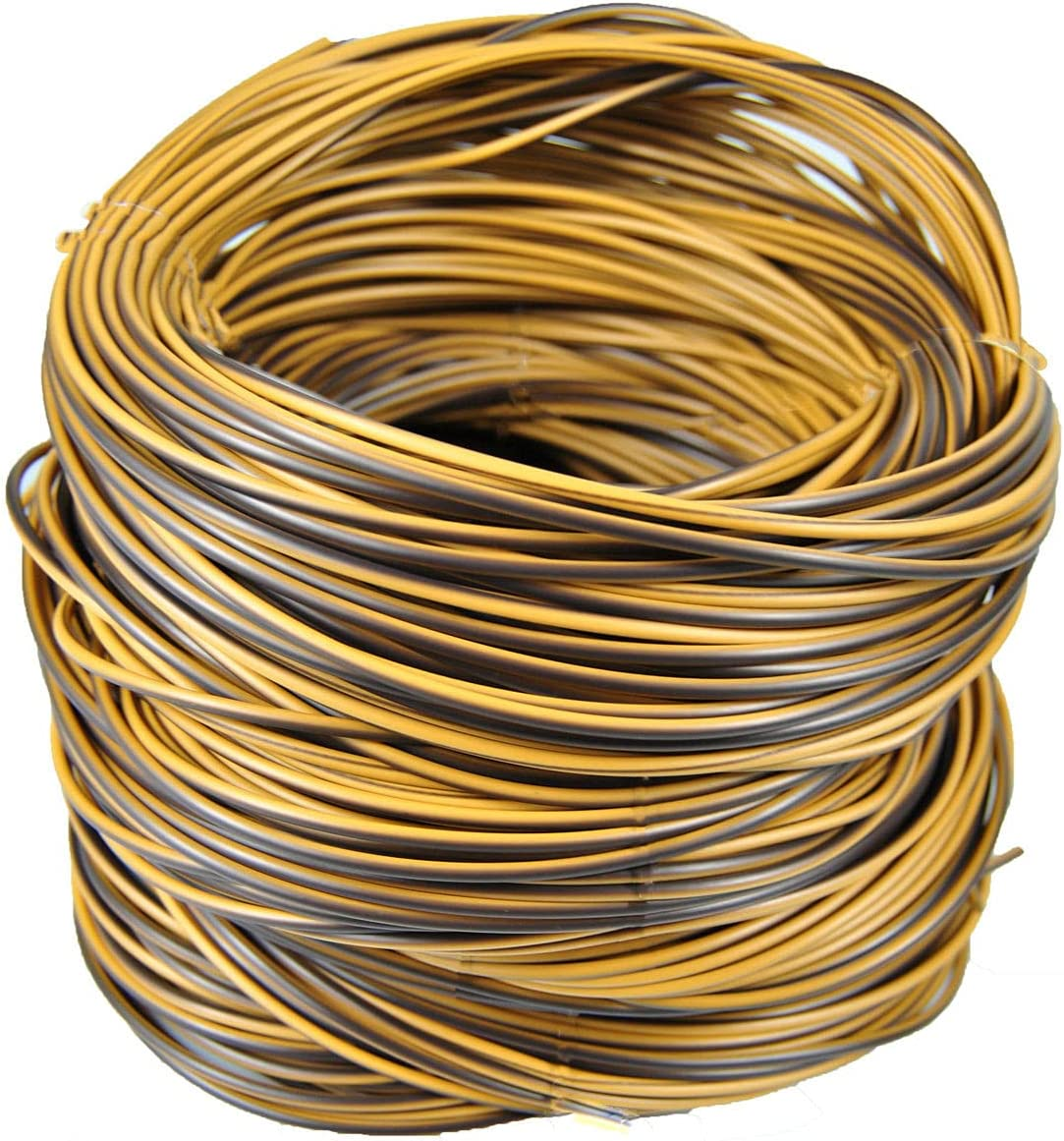 Rattan Repair Kit,Round Synthetic Rattan Fix Vinyl Plastic Waterproof Woven Rattan Ribbon for Garden Patio Furniture and Rattan Chair Couch Basket Replacement-0.55LB(Round Yellow Brown)