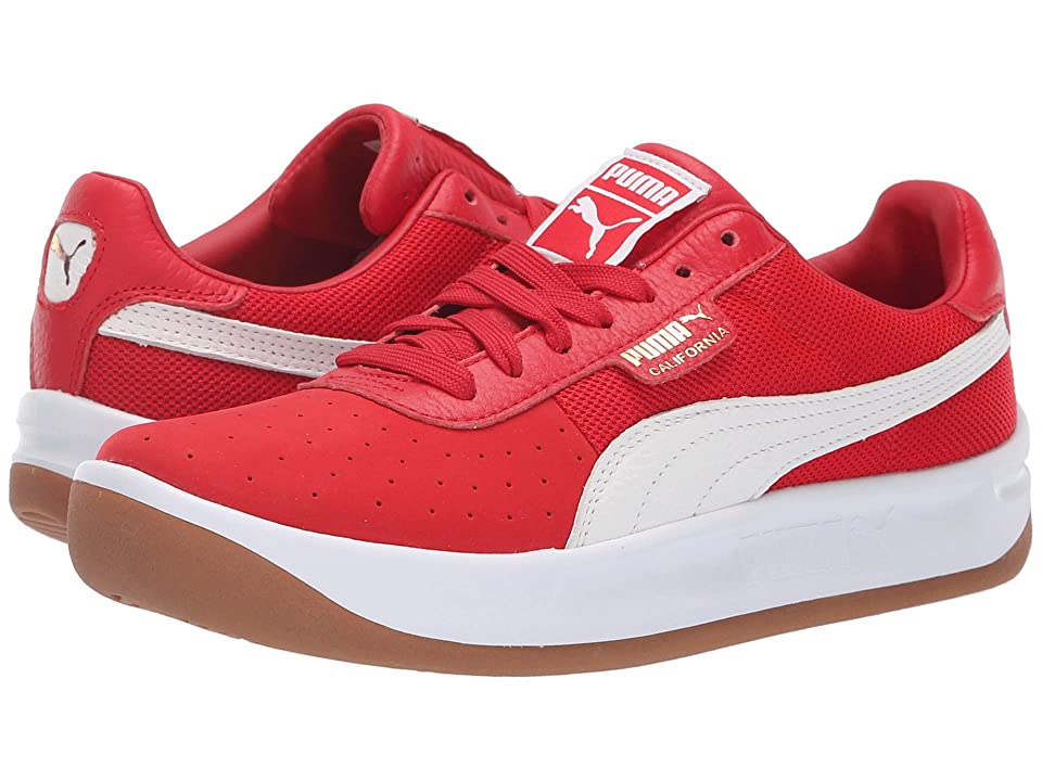 PUMA California Casual (Ribbon Red/Puma White/Puma Team Gold) Men