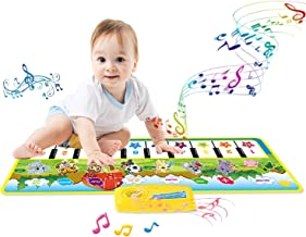 wonuu Music Piano Mat, Musical Dance Mat Baby Piano Keyboard Play Mat Blanket Touch Play Safety Learn Singing Funny Toy Kids Baby Girls Boys
