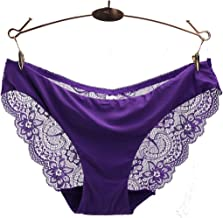 Women Panties Lace Sexy Transparent Underwear Low Rise Floral Hollow Embroidery Mesh Breathable Briefs