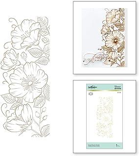 Spellbinders Sweet Blooms Border by Becca Feeken Glimmer Hot Foil Plate Set, Metal