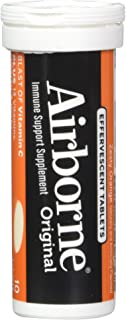 Airborne Zesty Orange Effervescent Tablets, 10 count - 1000mg of Vitamin C - Immune Support Supplement (Packaging May Vary)