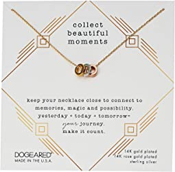 Collect Beautiful Moments, Trio Of Rondelle Beads Necklace
