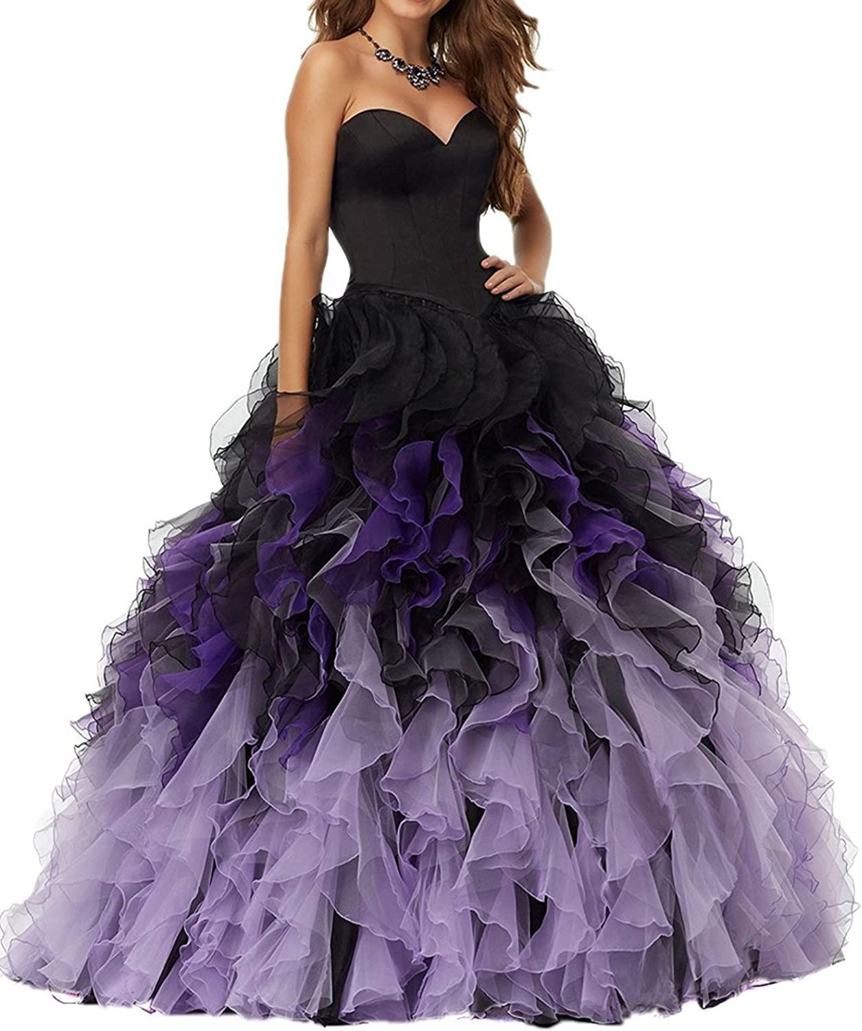 BEALEGAN Lady Women's Ball Gown Ombre Quinceanera Dresses Long Prom Gown