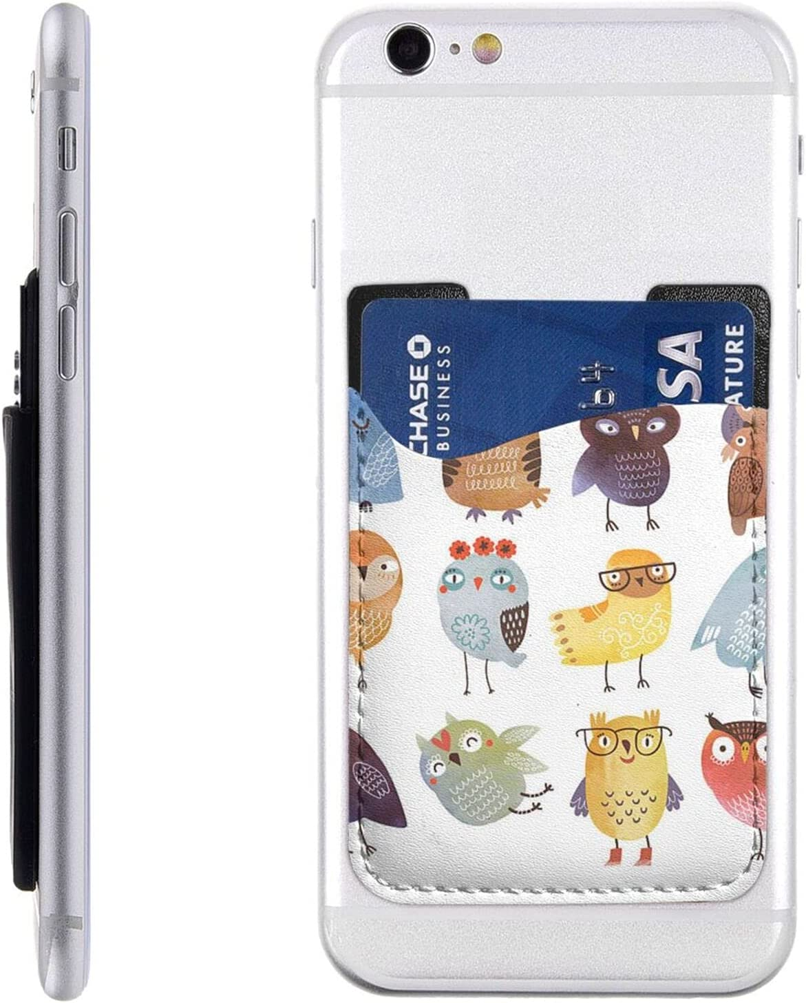 Safety and trust Owls Birds Phone Card Holder Stick Wallet Columbus Mall Cell On Sle