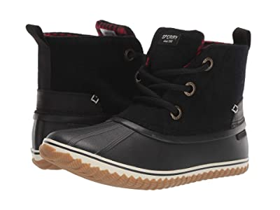 Sperry Schooner 3-Eye Lace-Up Wool (Black) Women