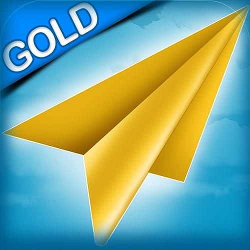 Papierflugzeug-Rennen: die Teenager Schule Korridor verrücktes Rennen - Gold Edition