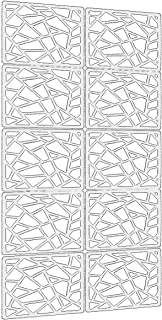"""Lchen Hanging Room Divider,10 Pieces Wood-Plastic Hanging Panels 0.2""""Thick Screen Panel for Living Room Bedroom Home Decoration(DQ,11.4"""