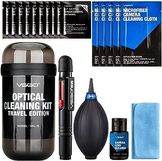 VSGO DKL-15 - Kit de Viaje para Limpieza Lentes, Color Gris
