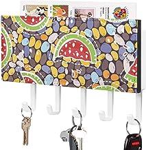 Crochets de clé fonctionnels - Crochet de clé mural, porte-clé de courrier, organisateur de clé de courrier, motif d'épiss...