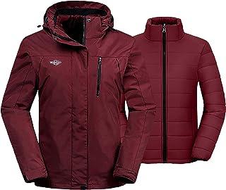 Women's 3 in 1 Waterproof Ski Jacket Windproof Winter Snow Coat Snowboarding Jackets Warm Raincoat