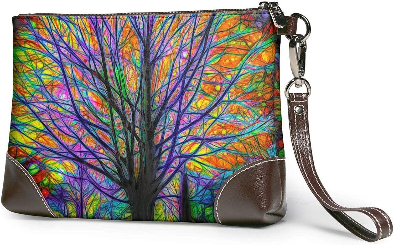 SALENEW very popular! Colorful Philadelphia Mall Tree Clutch Purses Wristlet Leather Wallet Purse
