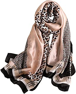 YMXHHB Fashion Scarves Silk Like Scarf Long Lightweight Sunscreen Shawls for Women