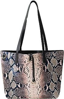 Felice Women Large Snakeskin Tote Hobo Handbag 2 in 1 Top Handle Shoulder Bag Satchel Purse