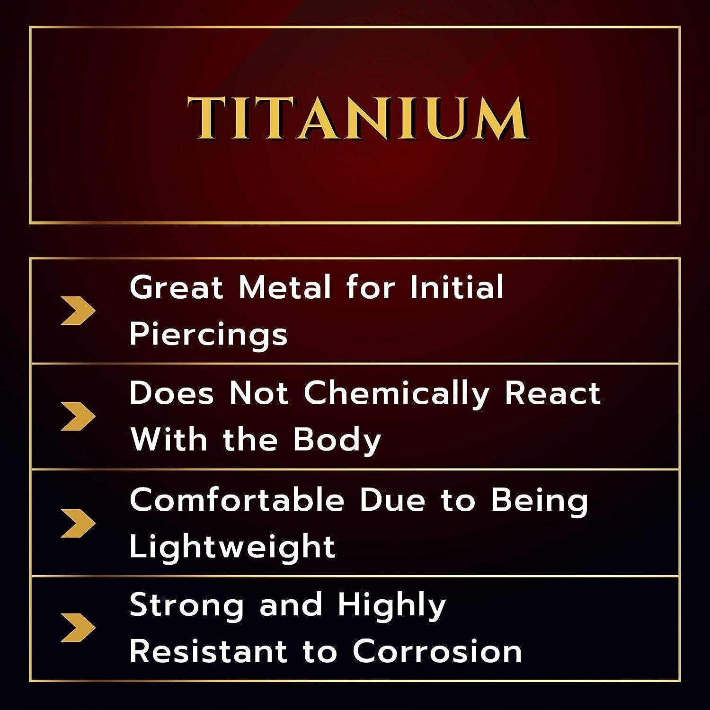 MATIGA Anodized Titanium 16 Gauge Ring Horseshoe Piercing Jewelry Eyebrow Septum Nose Lip Tragus Cartilage 3mm Cone More Choices
