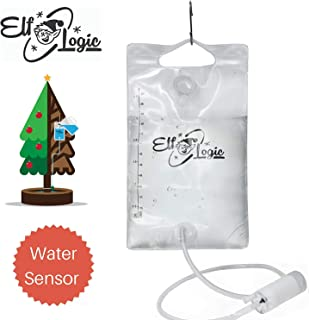 Elf Logic - Automated Christmas Tree Waterer - 2019 New Model & Valve - Senses Water Level & Funnel Water to Tree Automatically (1 Inch Valve, Clear)