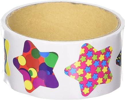 1e12b4ffb3 Funky Star Sticker Rolls (100 Stickers Per Roll