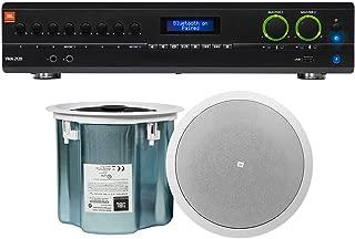 JBL VMA2120 2-Channel Amplifier+(2) JBL White 8