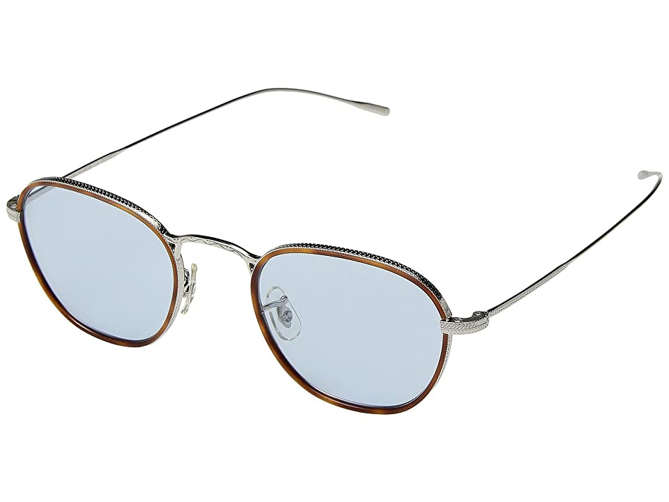 Oliver Peoples Eoin (Amber Tortoise/Silver) Fashion Sunglasses