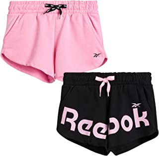Reebok Girls' Active Shorts - Lightweight Athletic Dolphin Gym Shorts (2 Pack)