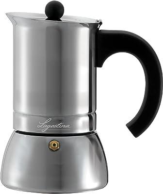 Lagostina T9910464 - Cafetera espresso (acero inoxidable, 6 tazas), color plateado