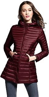 Elezay Women's Winter Light Weight Down Jacket Hooded Coat