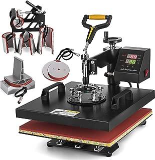 "SHZOND 15""x 15"" Heat Press Machine 8 in 1 Heat Transfer Machine Multifunctional Swing-Away Heat Press Machine for T Shirts/Hat/Mug/Plate/Cap"