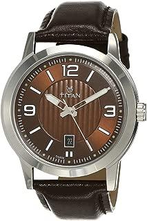 Neo Analog Brown Dial Men's Watch-NK1730SL03