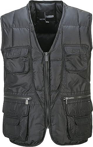 MJJ  Hommes d'age moyen et plus bas coton vest. plus la taille coton Décontracté Pour des hommes down vest gilet-coton