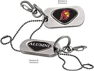 AdSpec NCAA USC Trojans Collegiate Dog Tag Key ChainCollegiate Dog Tag Key Chain, Silver, One Size