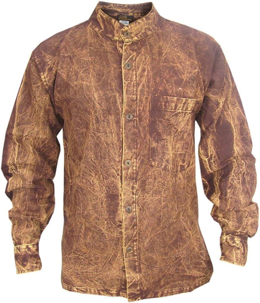 Virginia Beach Mall Gheri Men's Thick Stonewashed Button Shirt Casual Dusky Ranking TOP19 Top Down