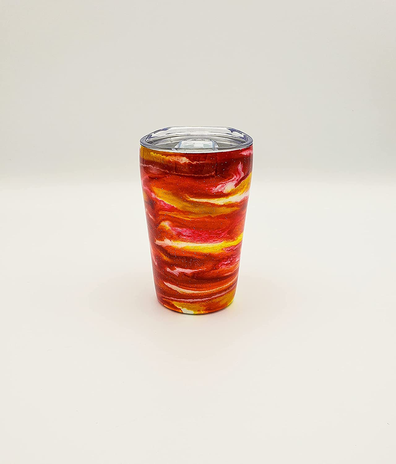 Red Orange Yellow Sparkle Swirl Alcohol 12 Max 40% OFF Ink Stee oz Stainless Denver Mall