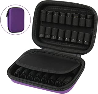 32 Essential Oils Case Storage Organizer Holder. Fits for 1ml (1/4 dram) and 2ml (5/8 Dram) Mini Glass Vial Bottles. Perfect for Travel or Daily Use. By COMECASE