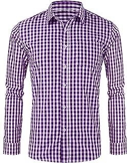 LOMON Men's German Bavarian Oktoberfest Stylish Long Sleeve Slim Fit Classical Shirt