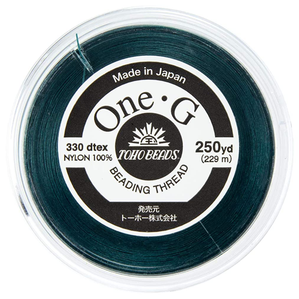 Toho One-G Beading Thread, 250-Yard (228-Meter) Spool - Deep Green