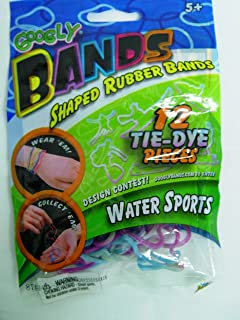 Googly Bands Shaped Rubber Bands 12 Pack: Glitzy