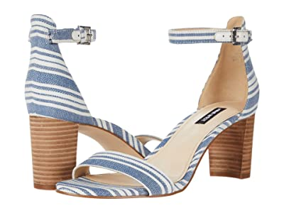 Nine West Pruce Block Heeled Sandal (Denim) Women