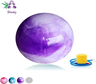 Fitwhiz Cloud Colored Exercise Ball (45CM-85CM) Extra Thick Explosion Proof Yoga Ball Chair,  Anti-Burst Heavy Duty Stability Ball,  Birthing Ball Quick Pump (Office & Home & Gym)