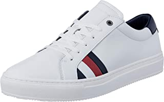 Tommy Hilfiger Men's Shoes, Colour White, Brand, Model Men's Shoes Corporate Leather Detail White