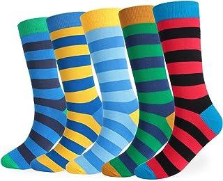 Pivoine, Peonine - Calcetines para hombre, algodón, fantasía, multicolores, 5 pares, (43-48)