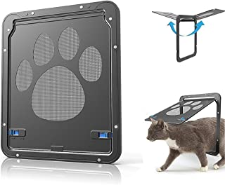 TOLBEST Pet Screen Door Dog Windows Screen Doggy Door Pets Channel for Cats and Dogs (Small, Black)