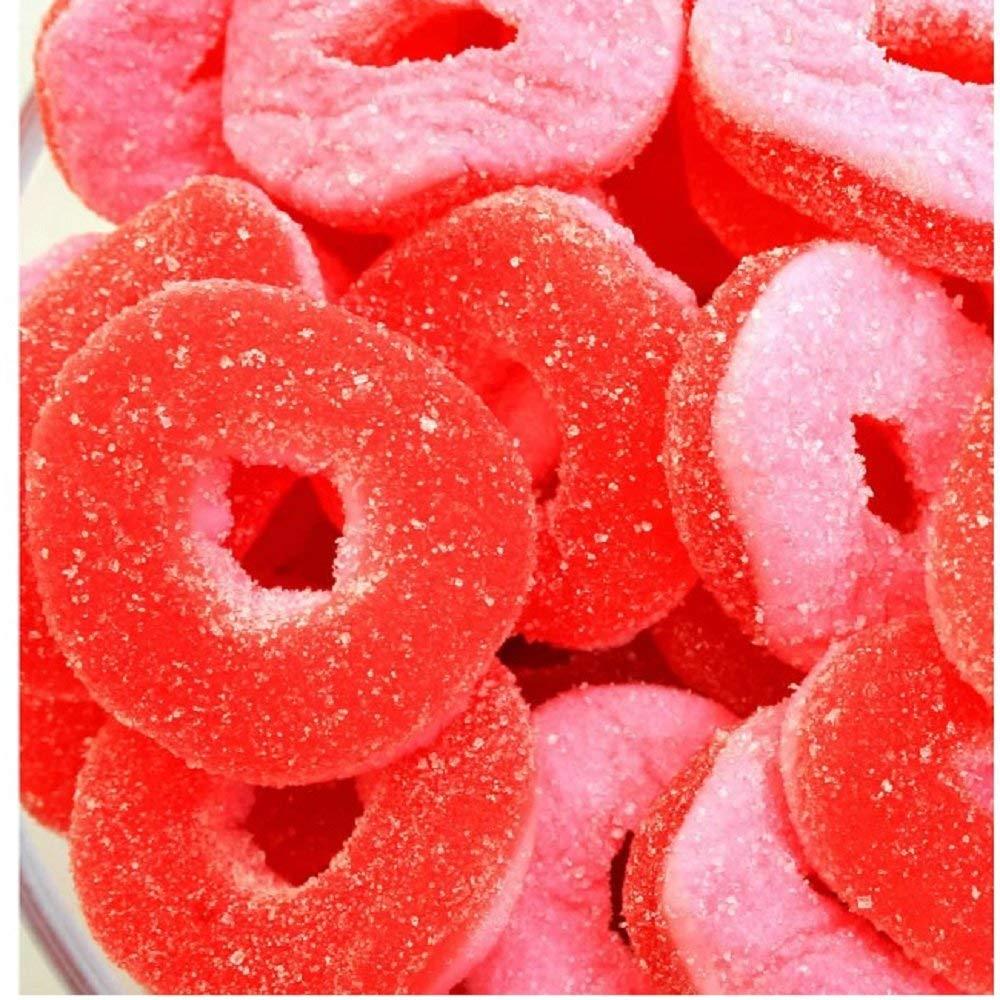 FirstChoiceCandy Gummy Rings, Fruit Gummi Os (Watermelon, 5 Pound)