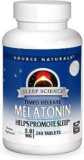 Source Naturals Sleep Science Melatonin 3 mg Helps Promote Sleep - 240 Time Release Tablets