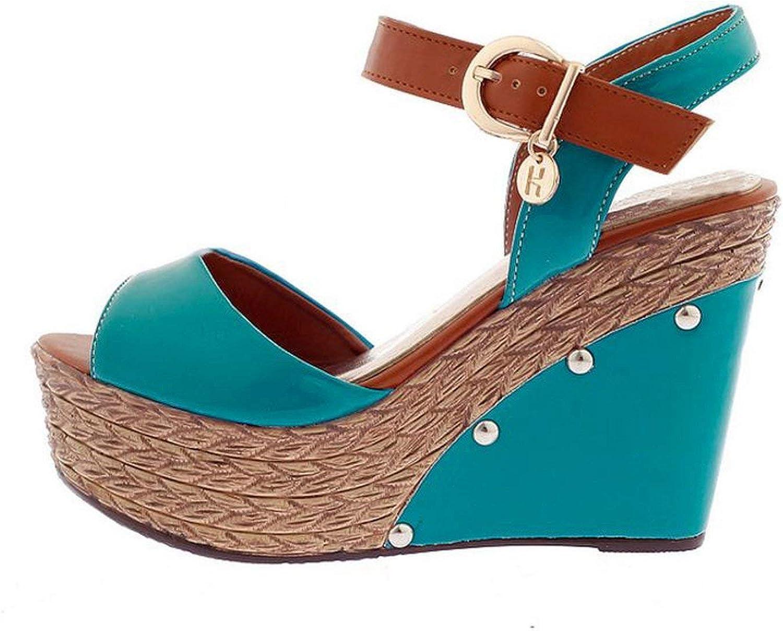 Summer Women High Wedges Sandals Peep Toe Platform Ankle Strap Sandals Beach shoes Women Footwear