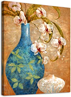 Blossom Canvas Wall Art Decor Vintage Flower Vase for Bathroom Bedroom Living Room..