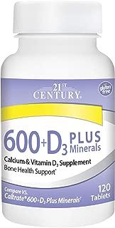 21st Century Calcium 600 Plus D Plus Minerals Caplets, 120Count